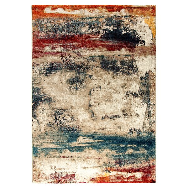 Cortland Blue/Gray/Red Area Rug by Trent Austin Design