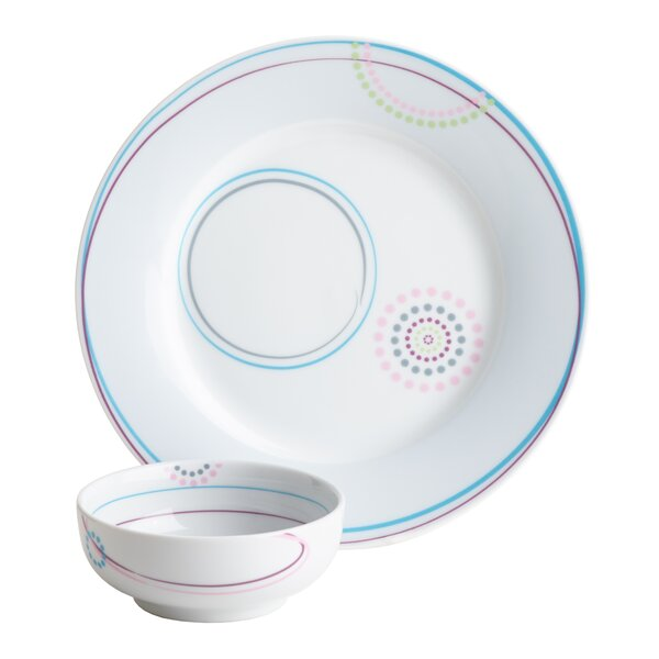 Felker Portion Control 2 Piece Place Setting Set, Service for 1 (Set of 2) by Winston Porter