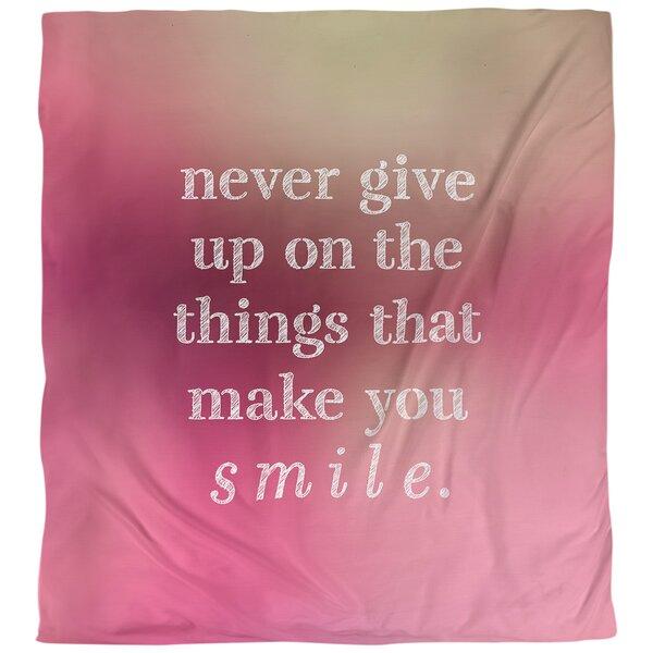 Joy & Perseverance Quote Single Duvet Cover