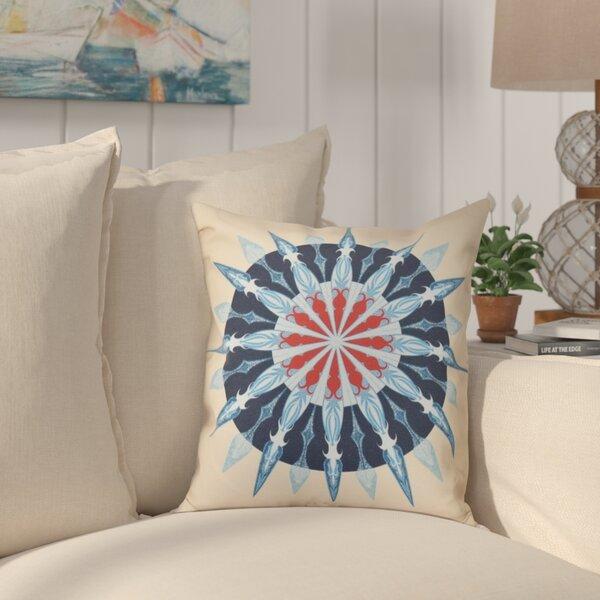 Hancock Sea Wheel Geometric Print Outdoor Throw Pillow by Breakwater Bay