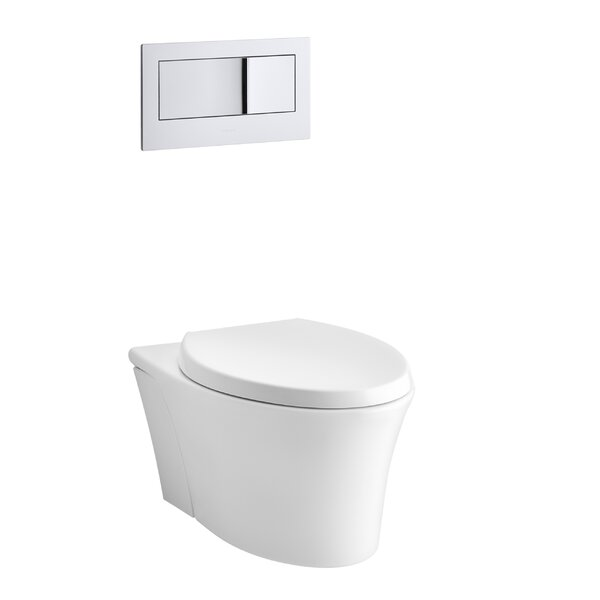 Veil One-Piece Elongated Dual-Flush Wall-Hung Toilet with Reveal Quiet-Close Seat by Kohler