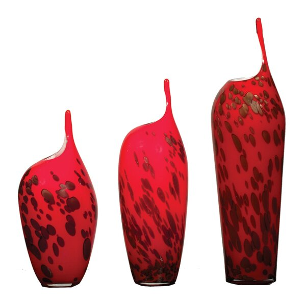 Joey 3 Piece Table Vase Set by World Menagerie