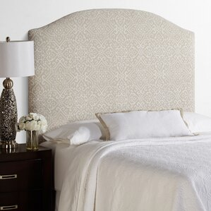 Lesa Palermo Arched Upholstered Headboard in Taupe by House of Hampton