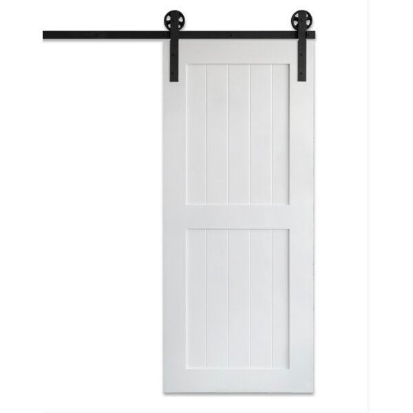 Classic Sliding MDF 2 Panel Wood Slab Interior Barn Door by Artisan Hardware