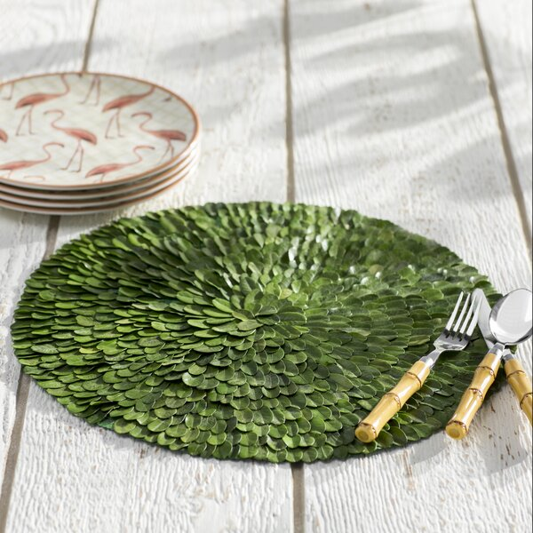 Parmer Preserved Rud Leaves Placemat (Set of 2) by Bayou Breeze