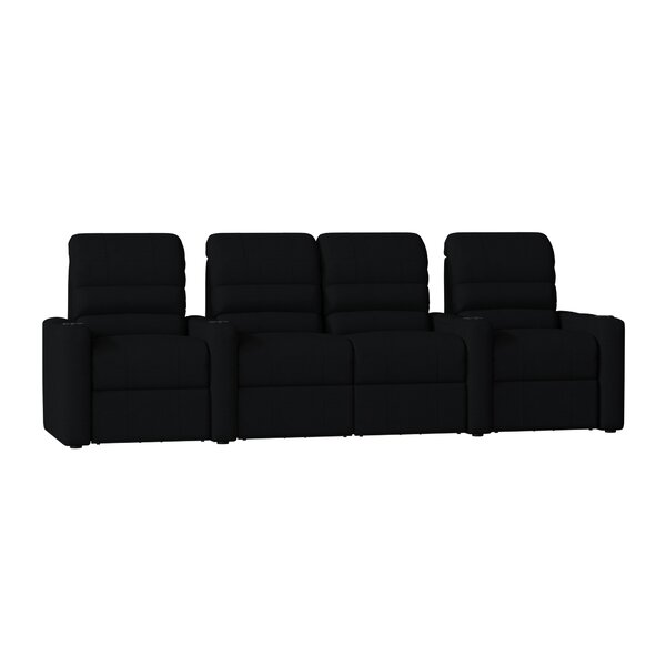 Blue LED Home Theater Row Seating (Row Of 4) By Latitude Run