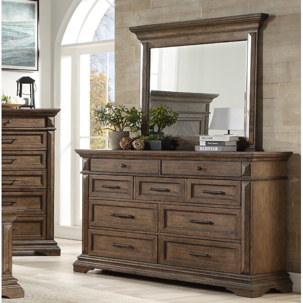 Merritt 9 Drawer Double Dresser with Mirror by Foundry Select Foundry Select