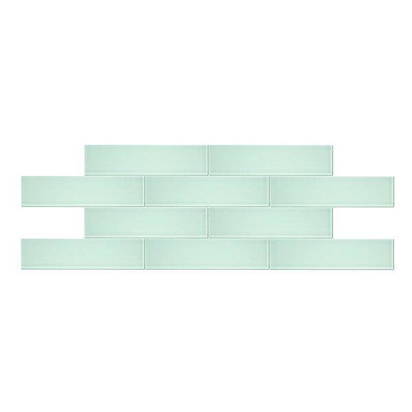 3 x 12 Glass Mosaic Tile in Seafoam Green by Vicci Design