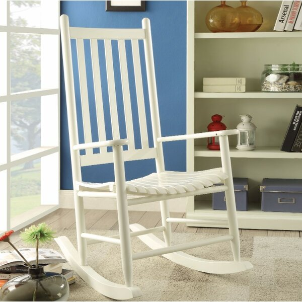 Boughton Oak Rocking Chair by Highland Dunes