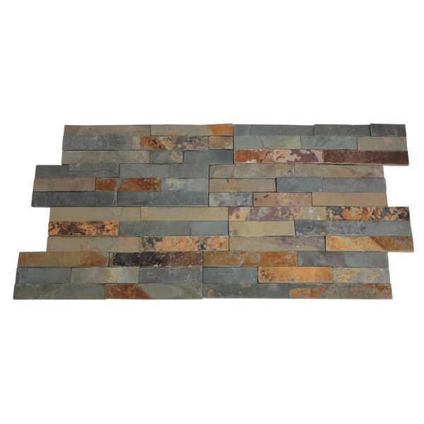Canyon Random Sized 16 x 7 Natural Stone Subway Tile in Rustic (Set of 10) by Stone Design