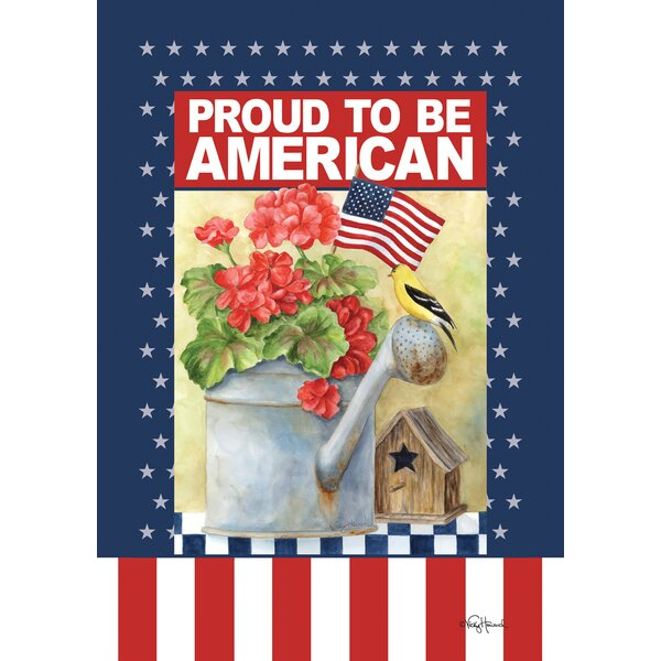Proud To Be American 2-Sided Garden flag by Toland Home Garden