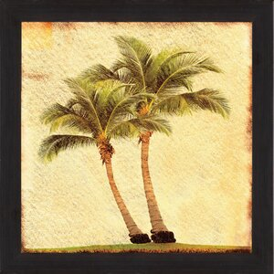 Palms II Framed Graphic Art by PTM Images