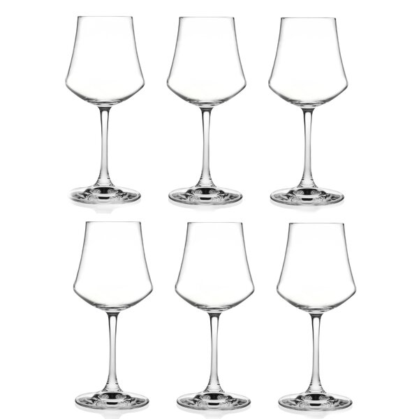 Ego 10 oz. Red Wine Glass (Set of 6) by Lorren Home Trends