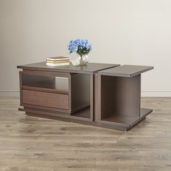Parkton Floor Shelf Coffee Table with Storage by Latitude Run Latitude Run