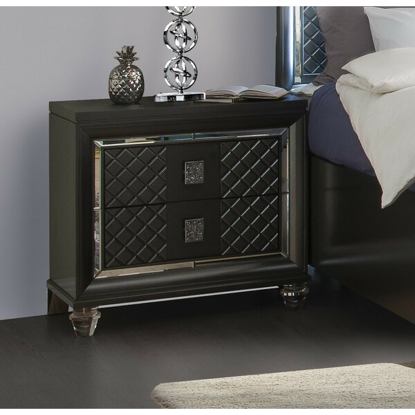Garofalo 2 Drawer Nightstand by Everly Quinn