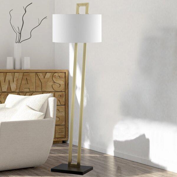 Cham 62 LED Floor Lamp by Orren Ellis