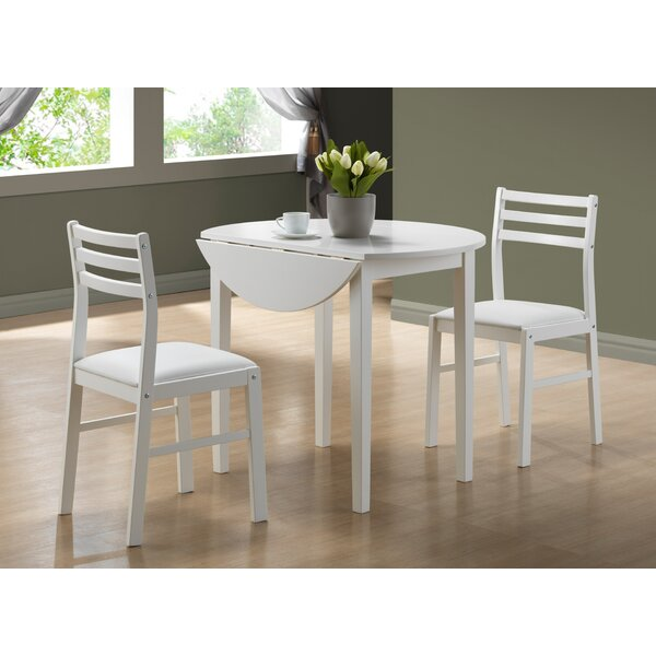 3 Piece Dining Set by Monarch Specialties Inc.