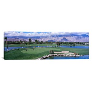 'Golf Course, Palm Springs, California' Photographic Print on Canvas by East Urban Home