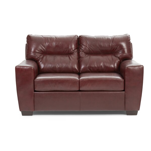 Premium Sell Oliver Leather Loveseat by Williston Forge by Williston Forge
