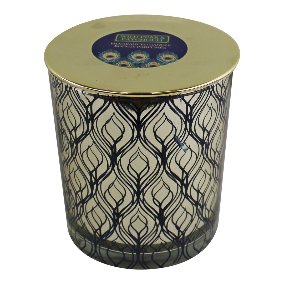 Peacock Wild Pear and Patchouli Scented Jar Candle