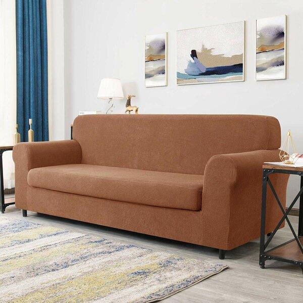 Arainy Jacquard Box Cushion Loveseat Slipcover By Winston Porter