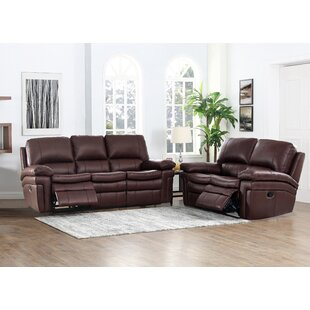 Geismar 2 Piece Leather Reclining Living Room Set by Red Barrel Studio