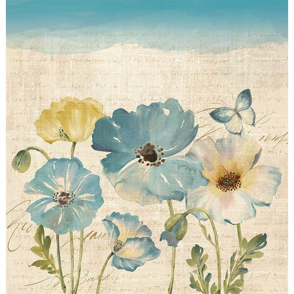 Argelia Water Color Poppies Shower Curtain by Red Barrel Studio