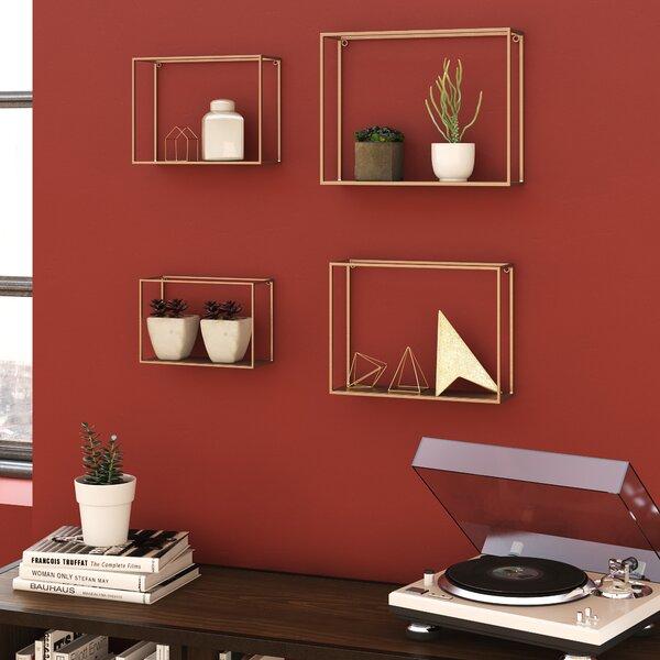 Tinkham Metal 4 Piece Wall Shelf Set by Brayden Studio