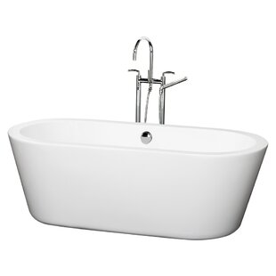 Find the perfect Mermaid 67 x 32 Freestanding Soaking Bathtub ByWyndham Collection