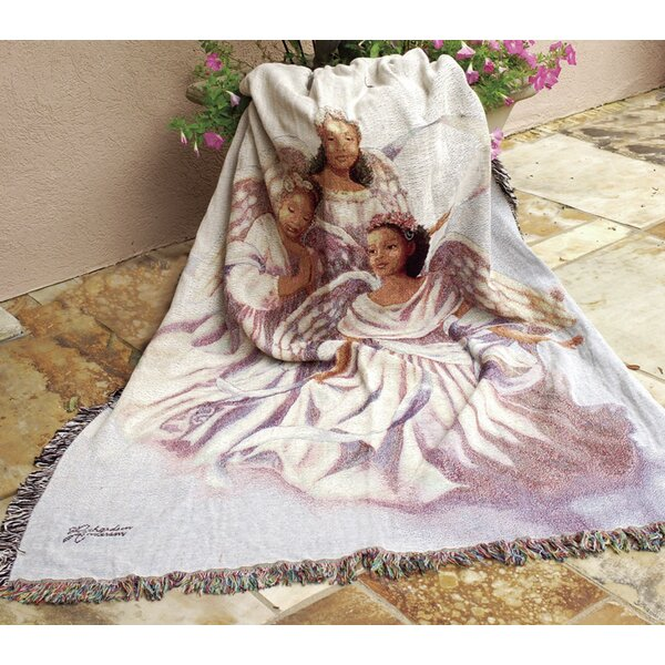 Angelic Trio Tapestry Cotton Throw by Manual Woodworkers & Weavers