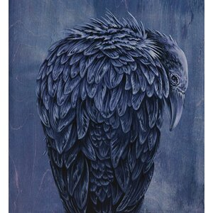 'The Raven' by Karin Grow Graphic Art on Canvas by GreenBox Art