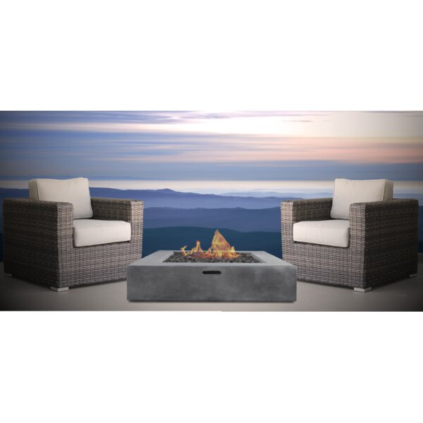 Eldora Fire Pit 3 Piece Seating Group with Cushions by Sol 72 Outdoor