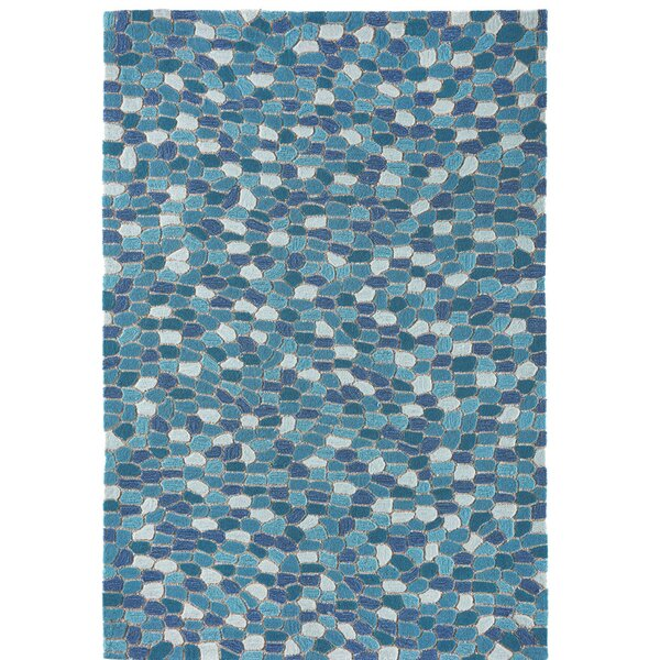 Hunsaker Pebbles Hand-Woven Blue Indoor/Outdoor Area Rug by Highland Dunes