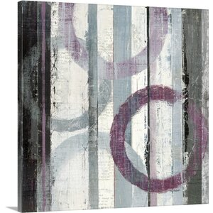 'Plum Zephyr II' by Mike Schick Painting Print on Wrapped Canvas by Great Big Canvas
