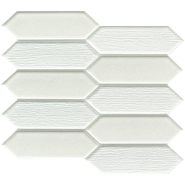 Picket 2 x 4 Glass Mosaic Tile in Beige by Emser Tile