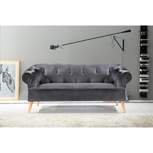 Free S&H Everson Chesterfield Sofa