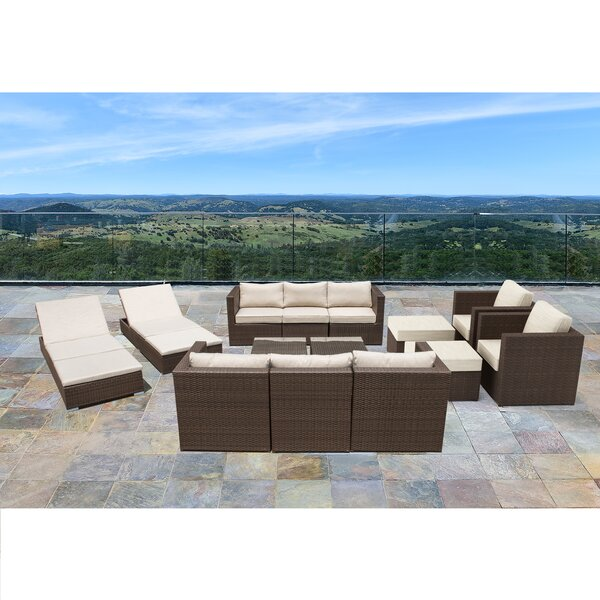 Midland 14 Piece Sectional Seating Group with Cushions by Sol 72 Outdoor Sol 72 Outdoor
