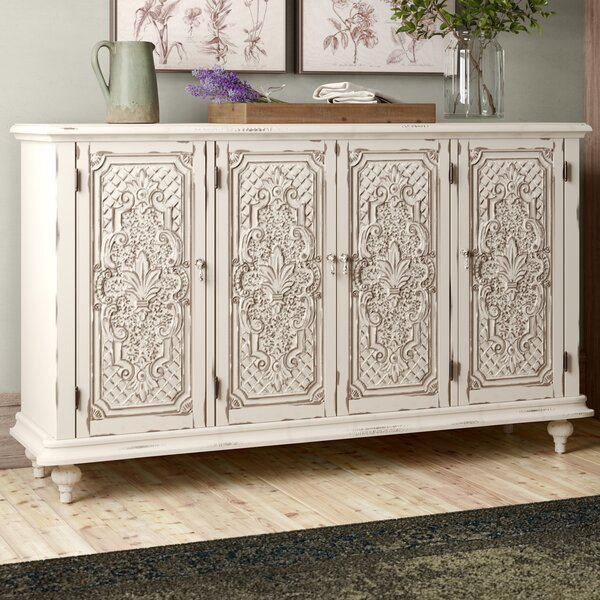 Keiper Distressed Tin Pressed Credenza by Ophelia & Co.