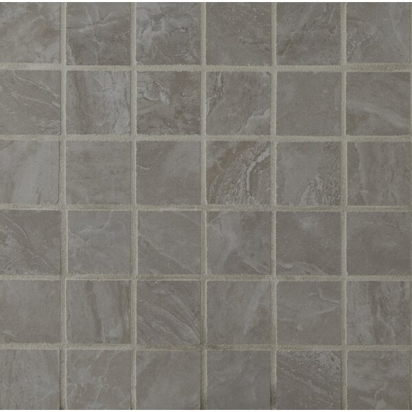 Pietra Pearl 2 x 2 Porcelain Mosaic Tile in High Gloss by MSI