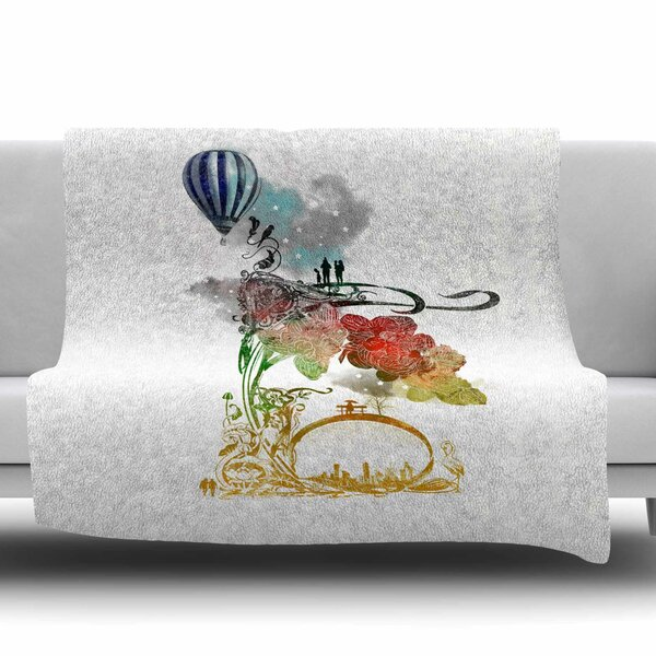 A Little Paradise by Frederic Levy-Hadida Fleece Throw Blanket by East Urban Home