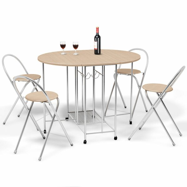 Holderman 5 Piece Counter Height Extendable Dining Set by Symple Stuff