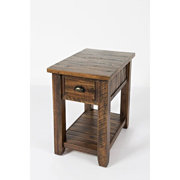 Commonwealth Wooden 1 Drawer End Table by Loon Peak