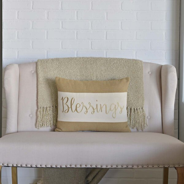 Blessings Lumbar Pillow by The Holiday Aisle
