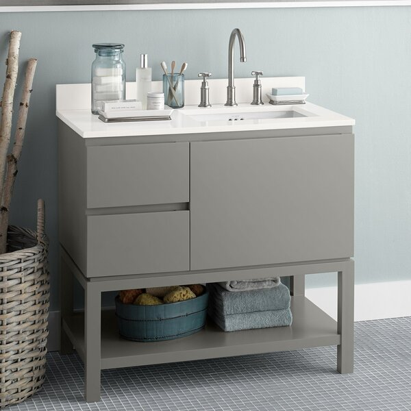 Chloe 37 Single Bathroom Vanity Set by Ronbow