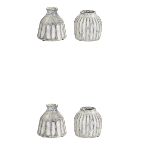 Mortimer Ceramic 4 Piece Table Vase Set by Union Rustic