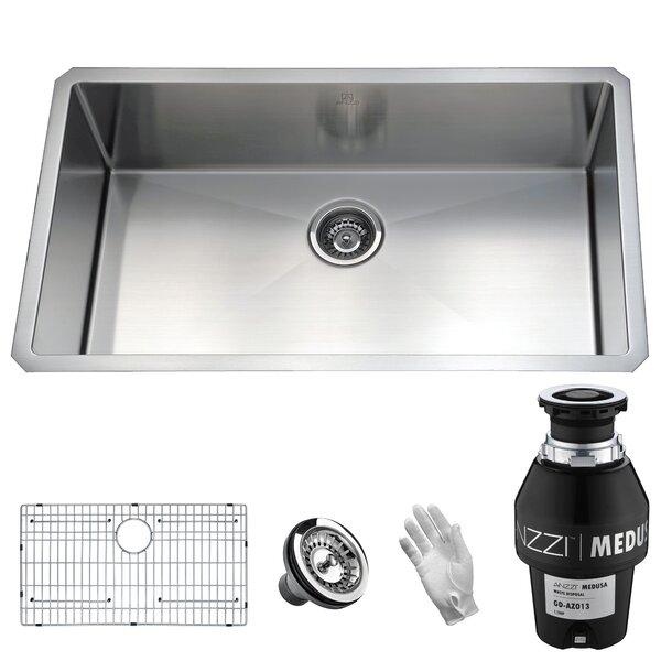 Vanguard Stainless Steel 32 L x 19 W Undermount Kitchen Sink by ANZZI
