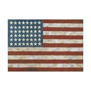'Flag' 1954 Vintage Advertisement by Jasper Johns Painting Print by McGaw Graphics