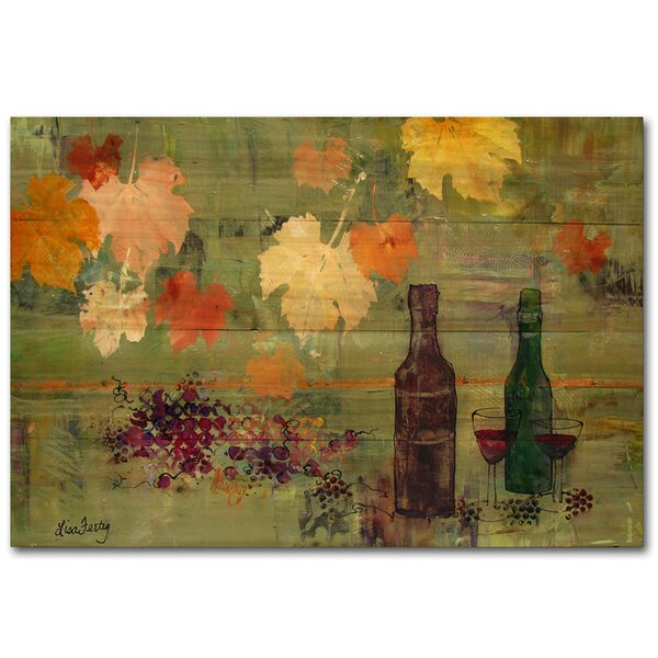 Leaves and Bottle Painting Print Plaque by WGI-GALLERY
