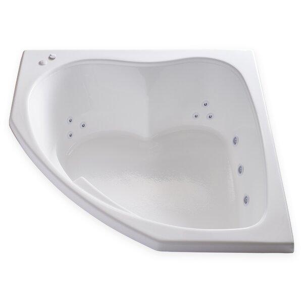 Hygienic Aqua Massage 55 x 55 Whirlpool Bathtub by Carver Tubs