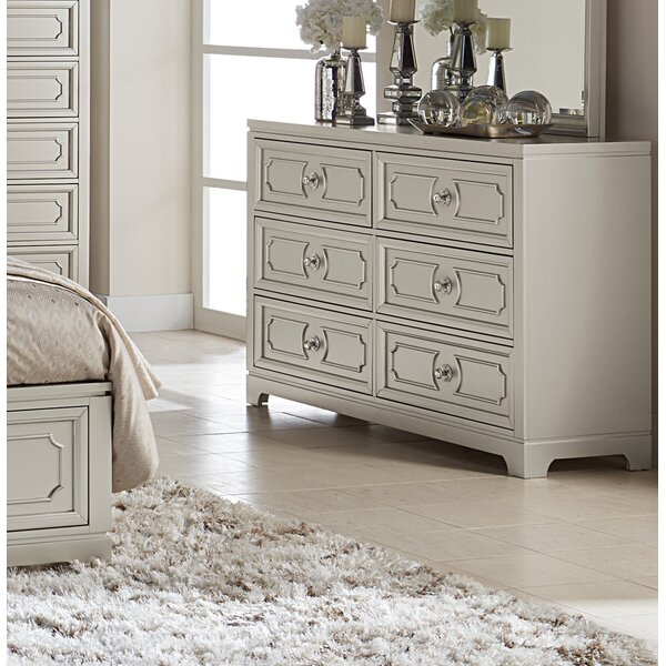 Eldridge 6 Drawer Double Dresser by House of Hampton